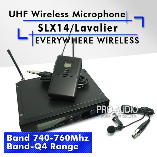 Kostenloser Versand! SLX14 SLX1 UHF Professionelle Wireless-Mikrofon-System mit Bodypack Revers Lavalier Clip Mic Band Q4 740-760 Mhz