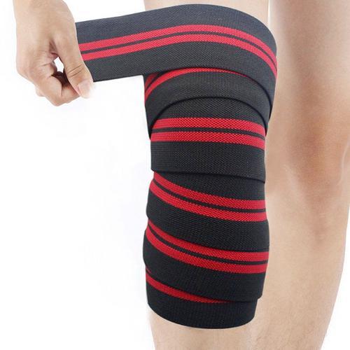 1 par Halterofilismo Agachamento Knee Guards Compressão Elástica Joelho Brace Bandage pad Joelho Apoio Brace Leg Arthritis Injury Ginásio Manga