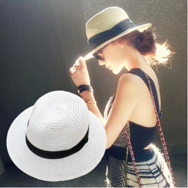 20 pcs Verão Floppy Largo Palha Praia mesquinha Chapéus De Aba De Sol Para As Mulheres, praia Headwear, chapéu De Panamá De aba larga, chapeau femme paille, chapeu feminino