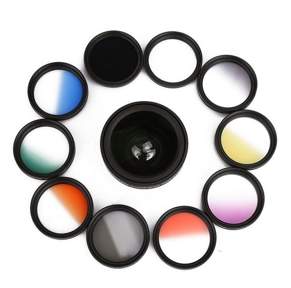 11 in 1 Clip-On Cell Phone Camera Lens Kit (37mm) Fit Universal Phone for For iPhone 7 Samsung Galaxy S7 HTC Huawei All Phones fisheye