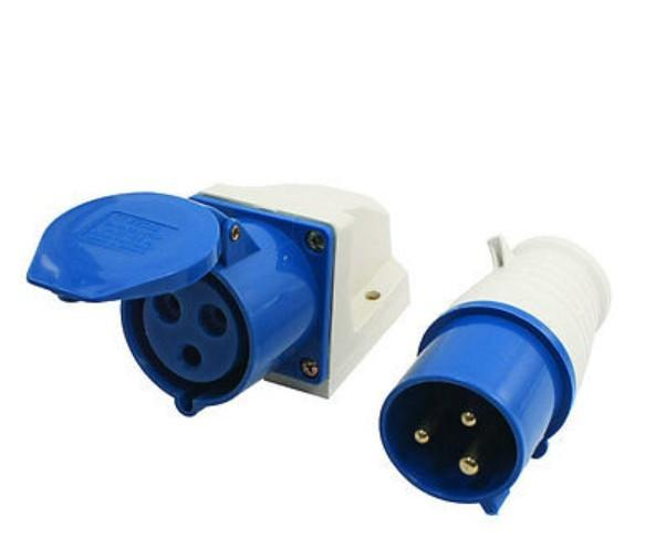 IEC309-2 32Amp 3 Pin Plug + Coupler Single Phase Industrial Waterproof Socket and plug