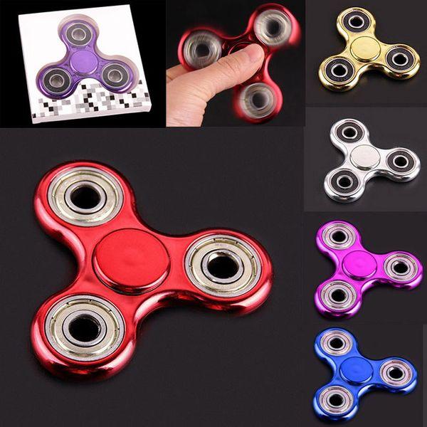 Top Zappeln Spinner Handspielzeug Dekomprimieren Angst Spinnen EDC Handspinner Metallbalance Spielzeug Bunte Anstrengung Gag Finger Spinner