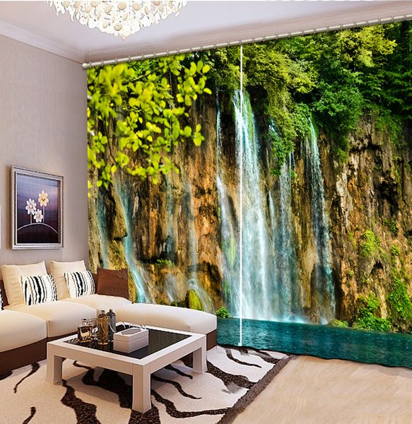Custom any size High Quality Customize size Modern Fashion 3D Home Decor Beautiful nature scenery custom curtain