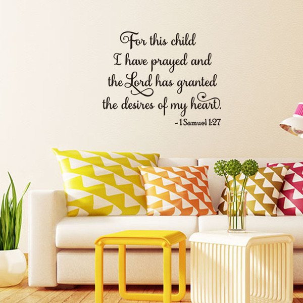 Cute For This Child I Have Prayed Wall Art Ideas - Wall Art Design ...