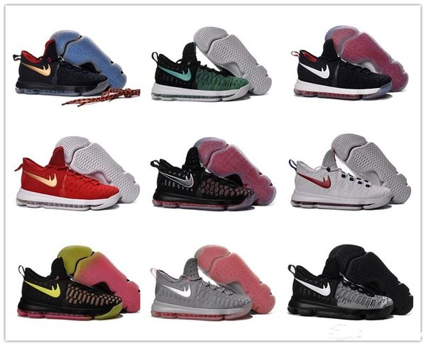 online retailer 04026 4181d ... 2016 Hot Sale KD 9 Kids Basketball Shoes Boys Kevin Durant Children Top  quality Sports Sneakers Kids Nike Zoom ...