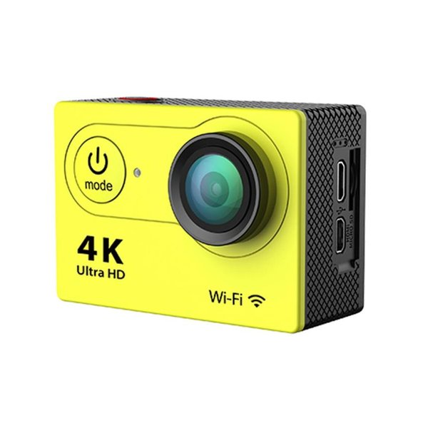 Wholesale-H9 Ultra HD 4K WiFi 2.0 Inch Waterproof Camera Video Camcorder Camera With Waterproof case High Quality Gift For Sport #201