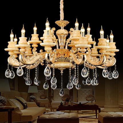 Chandeliers lights led European American luxury royal retro led chandelier led pendant lights for hotel villa home decoration