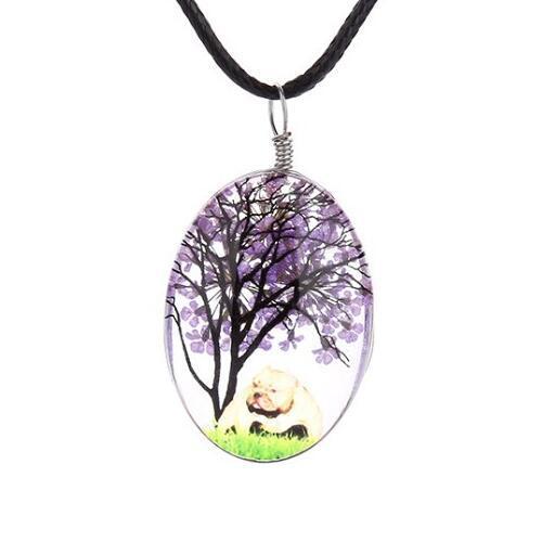 Desejo Colar Colares Hot Sale Flores secas vida Árvore de pingentes de cristal prata cadeia de colares para as mulheres menina Jóias 0623WH Atacado