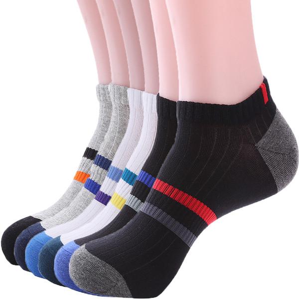 Мужская Оптовая полиэстер повседневная Low Cut спортивные спортивные лодыжки квартал 6 упак. подушка хлопчатобумажные носки soprts носки
