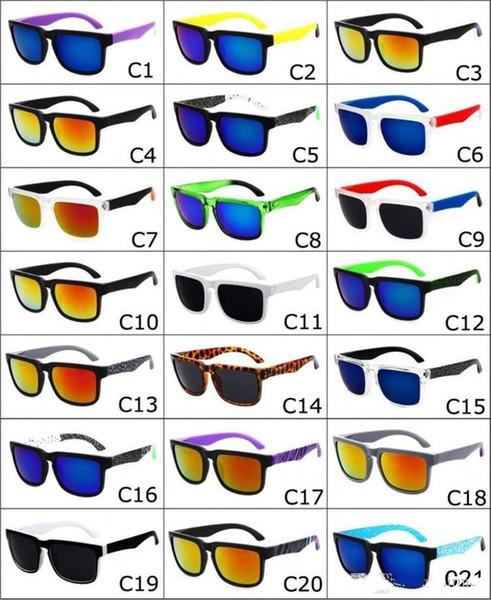 top popular 2017 Brand Designer Spied Ken Block Helm Sunglasses Fashion Sports Sunglasses Oculos De Sol Sun Glasses Eyeswearr 21 Colors Unisex Glasses 2019