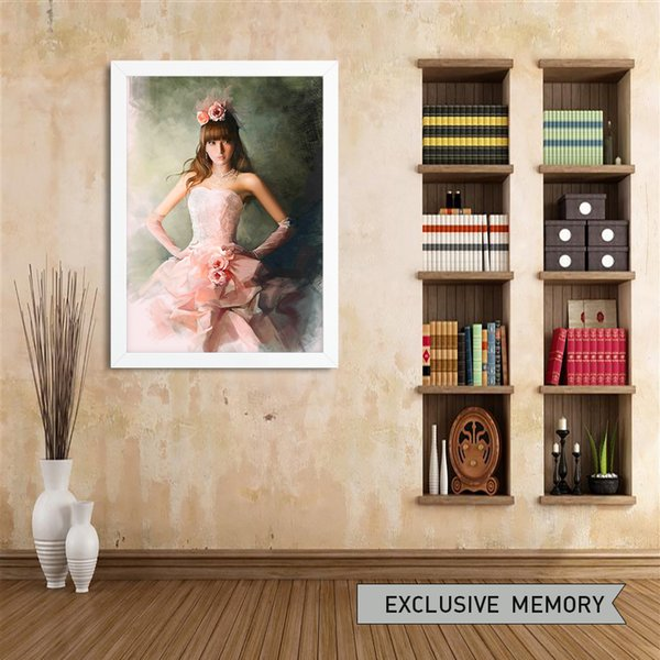 Moderne Heimat Dekoration Malerei, Wand Kunst Malerei, Leinwand Ölgemälde,  Rosa Mädchen, Geeignet