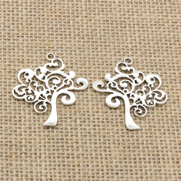 Wholesale 30pcs Charms Tibetan Silver/Bronze/Gold Plated peace tree 42*37mm Pendant for Jewelry DIY Hand Made Fitting