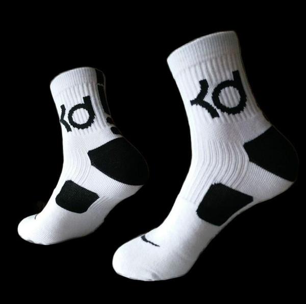 Mens marca Hot algodão grosso toalha de fundo Desodorante movimento meias masculinas alta KD elite basquete de futebol de futebol esportes tripulação sock terry meias