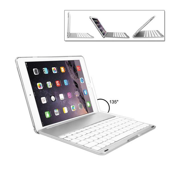 Para el nuevo iPad 9.7 Air Teclado inalámbrico con retroiluminación LED Teclado Bluetooth con cubierta protectora para 2017 iPad mini air2 Pro PCC056