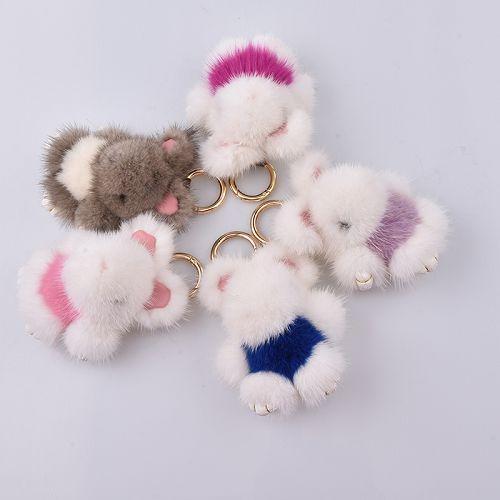 pelliccia 8 cm coniglio portachiavi reale 8 cm bunny portachiavi catene chiave di pelliccia bag bunny gingillo pompon pelliccia lepre pendente del telefono