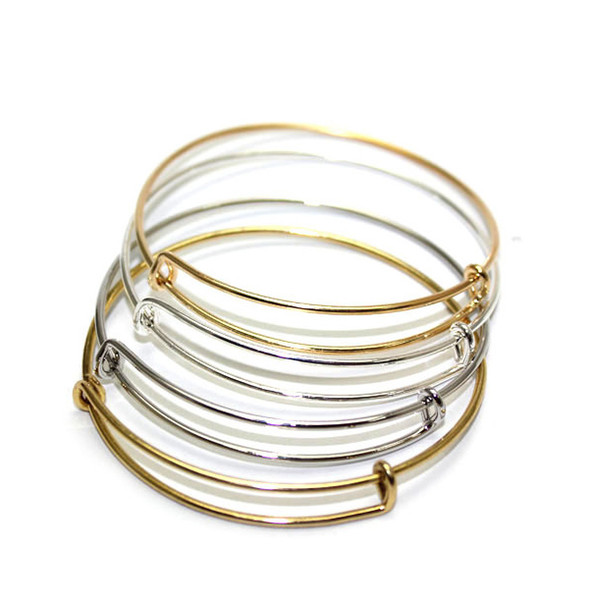 top popular Wholesale jewelry, Europe and the United States popular bracelets, adjustable size hanging accessories DIY alloy bracelets,free shipping 2021