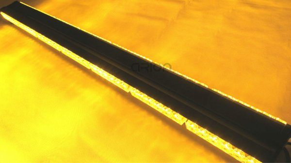 "DOUBLE SIDE 252W LED WORK LIGHT BAR BEACON WARNING STROBE LIGHT AMBER 41/"" 105CM"