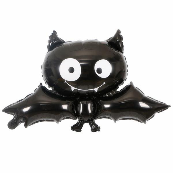 Cadılar bayramı Siyah Yarasa Alüminyum Folyo Balon Festivali Parti Dekorasyon Bar Ve Çocuklar Için Harika Büyük Balonlar Hediye Fabrika Toptan
