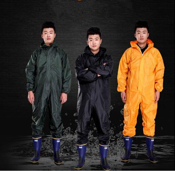 RAINPROOF Adulto Ao Ar Livre capa de Chuva homens Chuva Engrenagem Da Motocicleta com capuz Rainsuit Alta Qualidade 3 cores roupas de trabalho capa de chuva mulheres