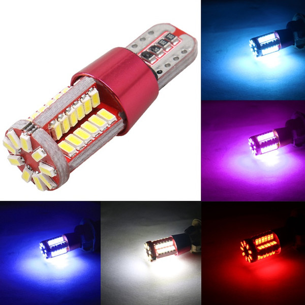 top popular 10PCS High Quality T10 501 W5W 168 57 SMD LED 3014 Car Auto Canbus Error Free Marker Lamp Clearance Lights Interior Light DC12V 2021