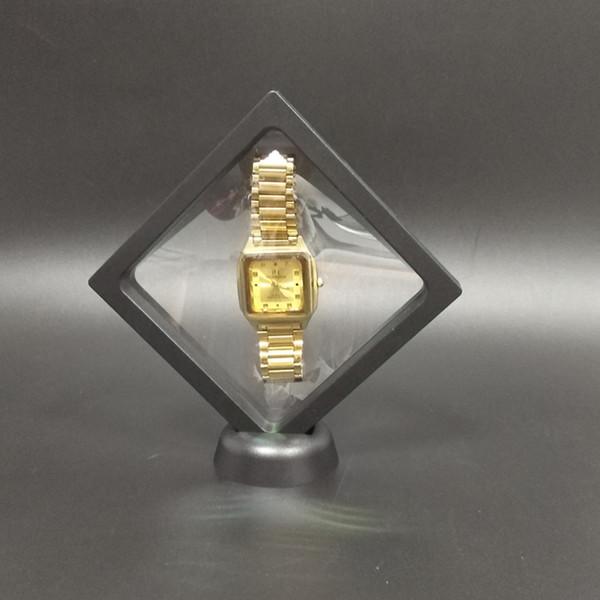 Feine Multifunktionale 5 Stücke Schmuck Display Armband Halskette Ring Uhr Display-ständer Klar Zubehör Bild Schwimmenden Rahmen Box 11 * 11 cm