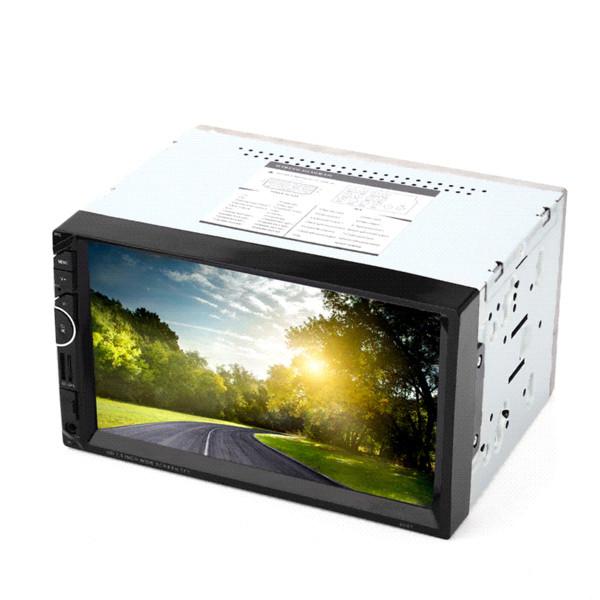 8001 2 Din 7 '' Reproductor estéreo de video para radio de coche universal Navegación GPS FM RDS USB AUX Bluetooth Control remoto Cámara retrovisora