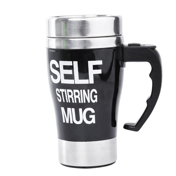 Stainless Steel Automatic Mixing Cup Self Stirring Milk Tea Coffee Mug Electric Stir Drinkware Plastic Heat-resistant Glass