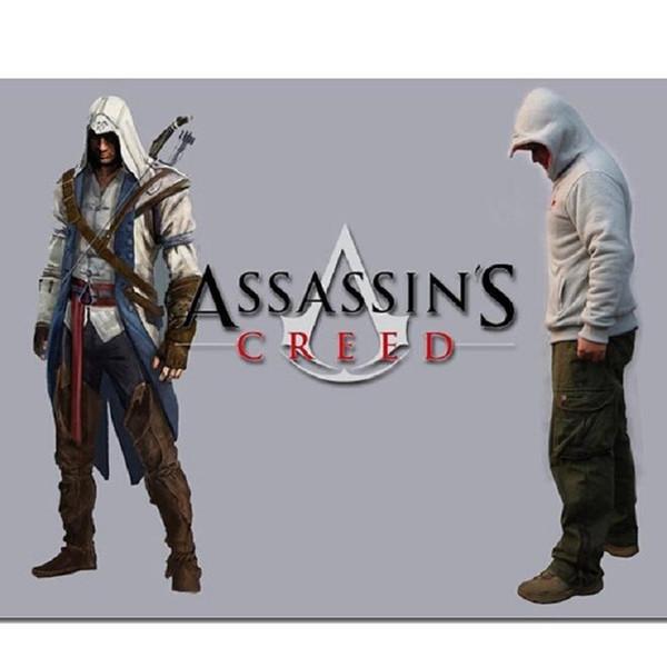 2017 Spring Assassin Creed Hoodies Men Top Jacket Coat Assassins Creed Cosplay Coold Slim Male Zipper Sweatshirt Free Shipping