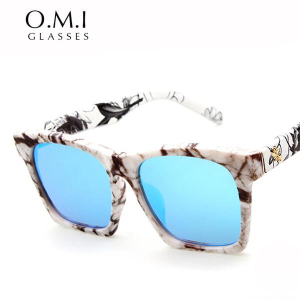 Высокое качество 2017 оригинальный суперзвезда цветок печати солнцезащитные очки Женщины квадратная рамка солнцезащитные очки Oculos De Sol Feminin OM198