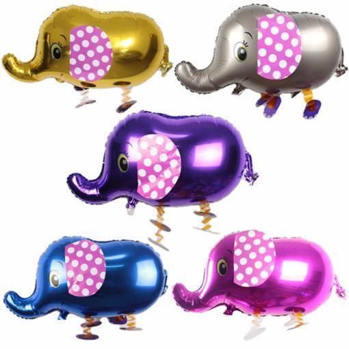 New Design Elephant Balloon Walking Pet Cartoon Aluminum Foil Decoration Animal Helium Balloons Party Christmas Kid Toy Walk