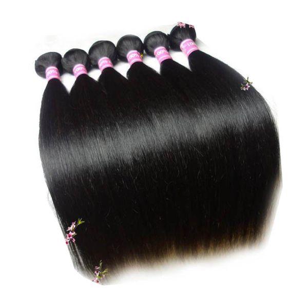 Cheap Brazilian Hair, Straight Hair, 6 pieces/lot, 12-30 inches in Stock Brazilian Remy Straight Hair Extensions, 100% Human Hair Weft