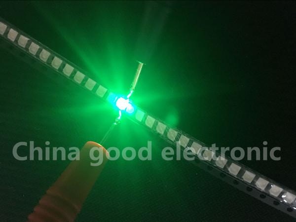 Wholesale- 500pcs 1210 3528 green SMD LED LEDS Light emitting diode Lamp bead