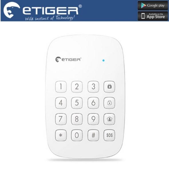 LS111-Kostenloser Versand etiger ES-K1A 433 MHz Frequenz Drahtlose Tastatur Arm, entwaffnen oder aktivieren Sie den Home-Modus für Haussicherheit Alarmanlage