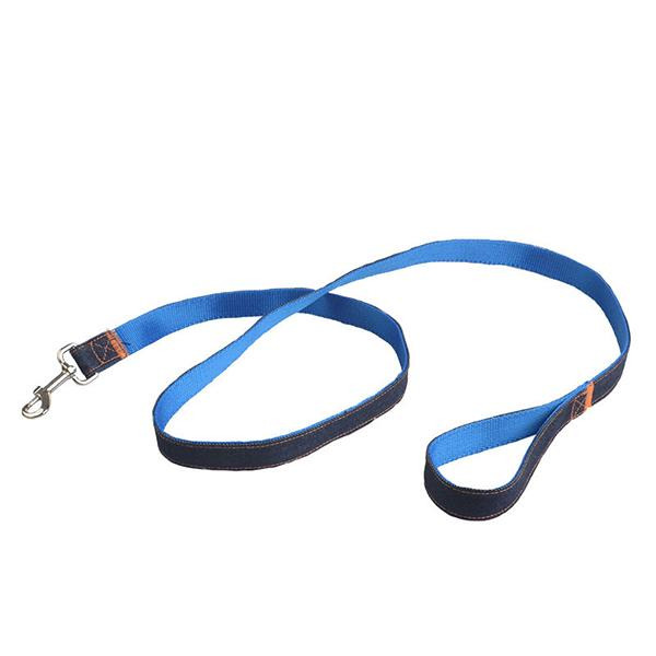 New 150CM Fashion Denim Nylon Rope Dog Leashes Double Color Jean Cloth Pet Dog Puppy Strap Retro Pet Products Wholesale 100PCS