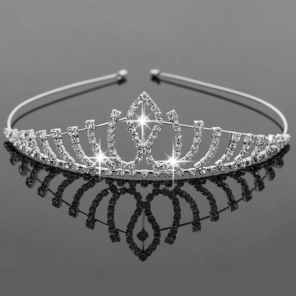 best selling Bridal Tiaras Crowns With Rhinestones Bridal Jewelry Girls Tiaras Birthday Party Performance Pageant Crystal Wedding Accessories #BW-T016