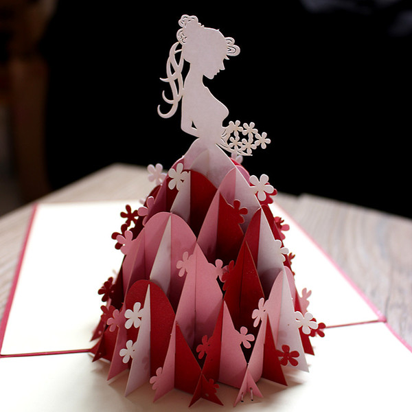 Compre 3d Emergente Wed Invitación Hecha A Mano Wed Tarjeta Invitación Vintage Bride Tarjetas Regalos Postal Tarjetas De Felicitación A 2 31 Del