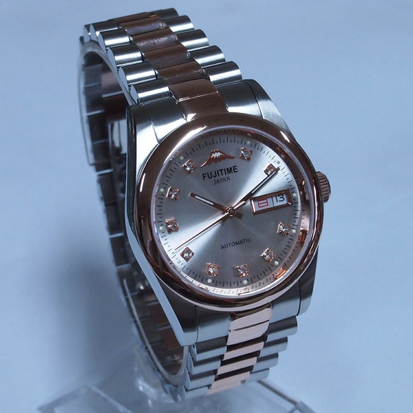 Vintage Watches For Sale >> Fuji Fujitime Full Automatic Mechanical Back Through The Classic