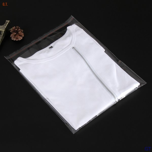 2018 Gift Bags 100pcs Clear Resealable Bopp/poly/cellophane Bags 18x35+3cm Transparent 10sizes Gift Plastic Packaging Self Adhesive Reseal