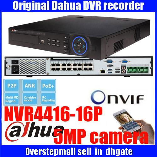 Original ENGLISH Firmware DAHUA NVR With 16PoE Ports 4HDD Support Up To 5MP  Recording Resolution Onvif Dahua DH NVR4416 16P DHNVR4432 16P Dvr Buy Dvr
