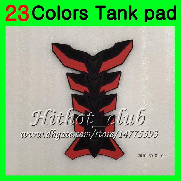 23Colors Protezione del serbatoio del gas in fibra di carbonio 3D per Triumph Daytona 675 02 03 04 05 06 07 08 2002 2003 2004 2005 06 2008 3D Tank Cap Sticker