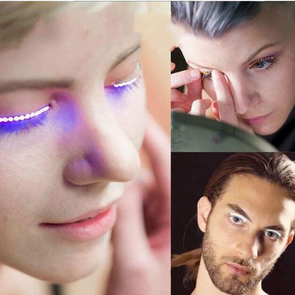 Lashes Interactive LED Eyelashes Fashion LED Strips False Eyelash Waterproof for Dance Concert Christmas Halloween Nightclub Party gifts