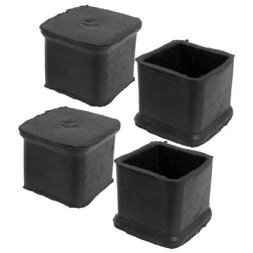 Wholesale- PHFU 4 Pcs Black Chair Table Leg Rubber Foot Covers Protectors 28mm x 28mm