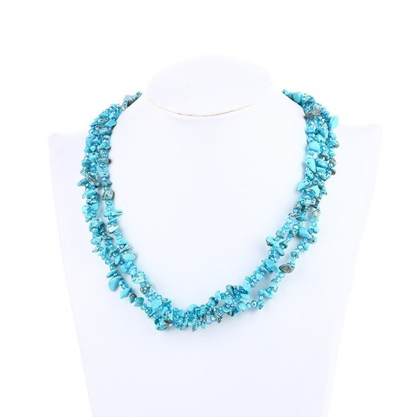 Pendants Necklace Colorful Irregular gravel beads Necklace Short Choker Natural stone beads natural stone jewelry statement necklaces