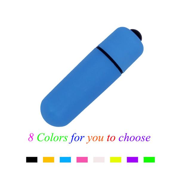 Prodotti del sesso per adulti per le donne Vibratori di pallottole di razzo di colore casuale ABS Mini giocattoli impermeabili del sesso del punto di G di Vibes