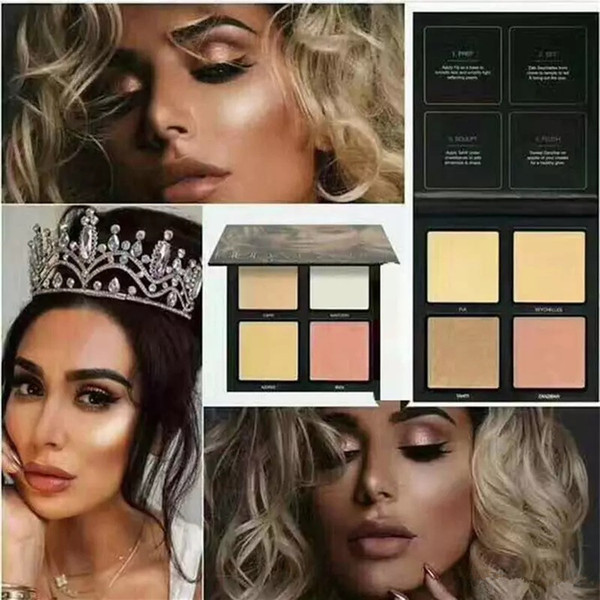 2017 hot Brand 3D highlighter palette 2 colors gold pink sands edition makeup Highlighters Bronzers DHL free shipping