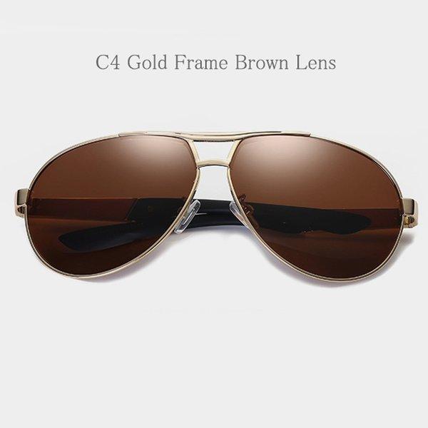 C4 Gold Frame Brown Lens