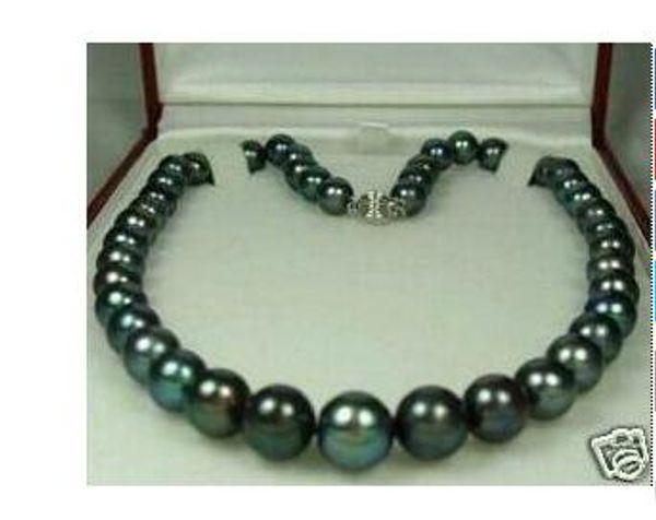 Collana di perle della collana della perla naturale nera 8-9mm delle donne / dei gioielli della collana libera di consegna all'ingrosso dei gioielli