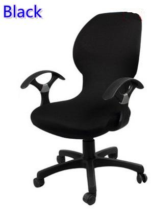 Black colour lycra computer chair cover fit for office chair with armrest spandex chair cover decoration wholesale
