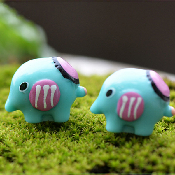10pcs Kawaii Elephant Resin Craft Fairy Garden Miniatures Succulent Gnomes Bonsai Tools terrarium Figurines Micro Landscape Jardin Gnomes