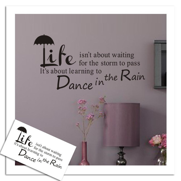 Best Life KW-ZY8150B dance In The Rain custom wallpaper background wall stickers English personality characters